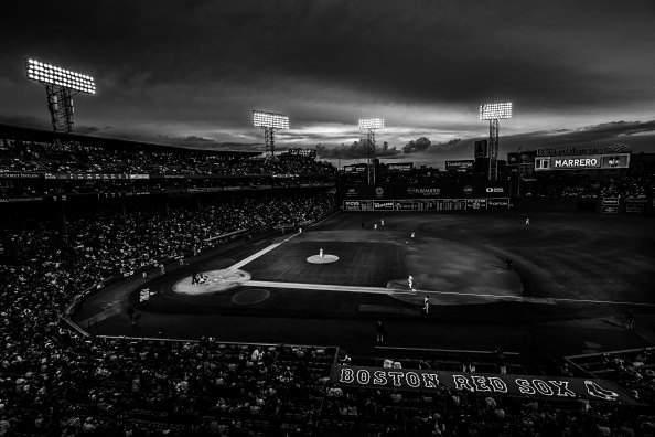red sox fenway park black and white