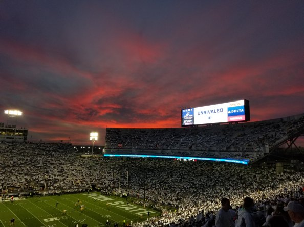 penn state at sunset