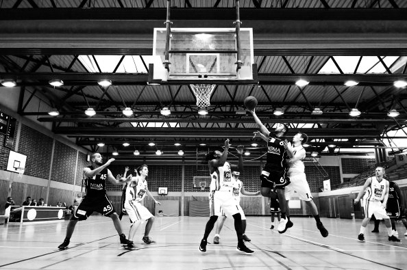 basketball in black and white